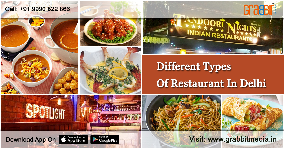 Different types of restaurant in delhi