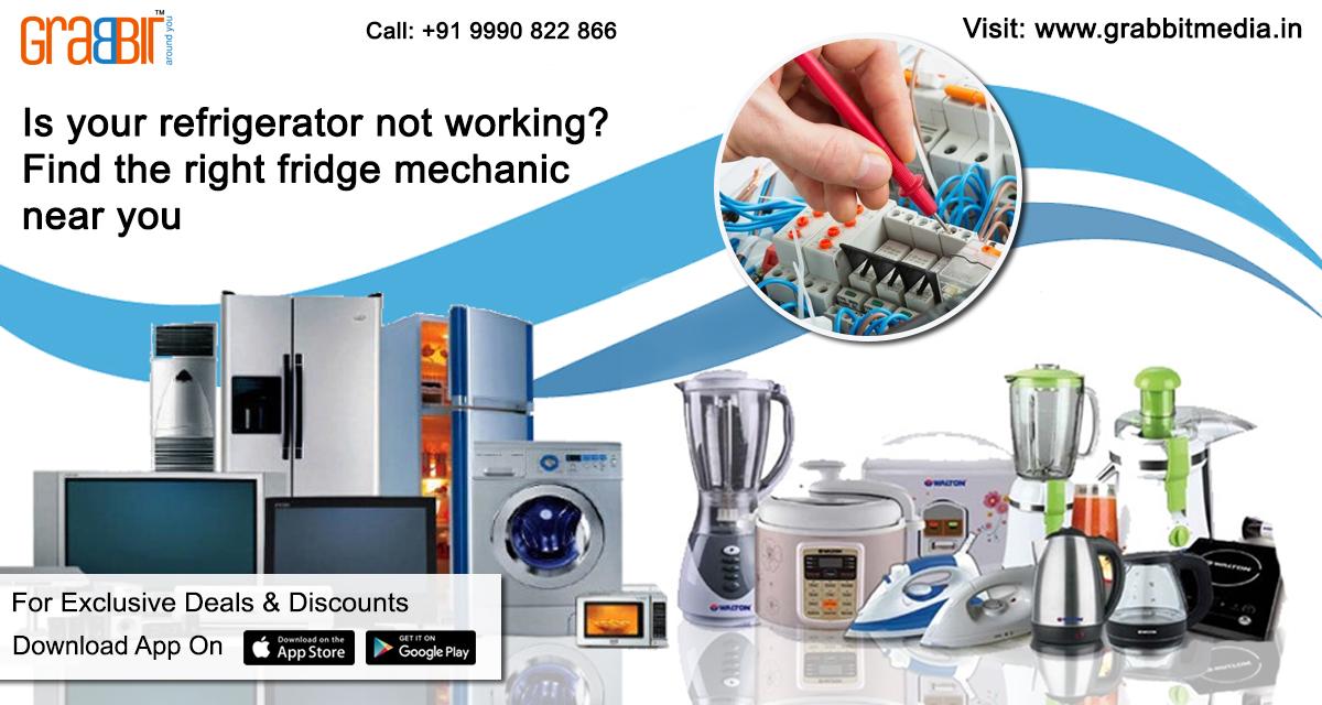refrigerator repair near me now – Grabbit Media App – Around You