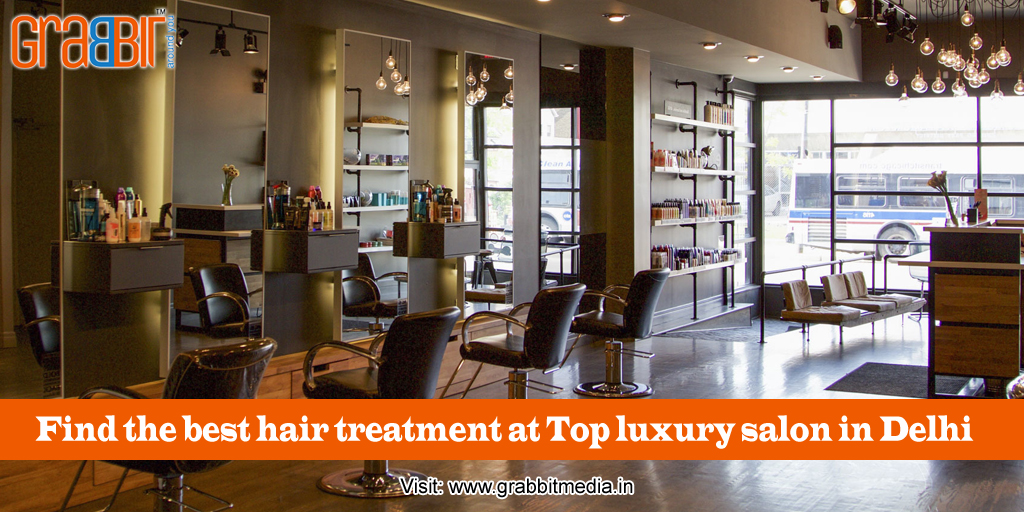 Find the best hair treatment at Top luxury salon in Delhi.