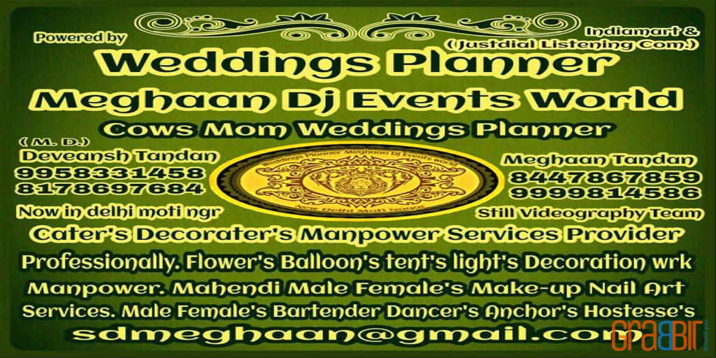 Weddings Planner Meghaan DJ Events World